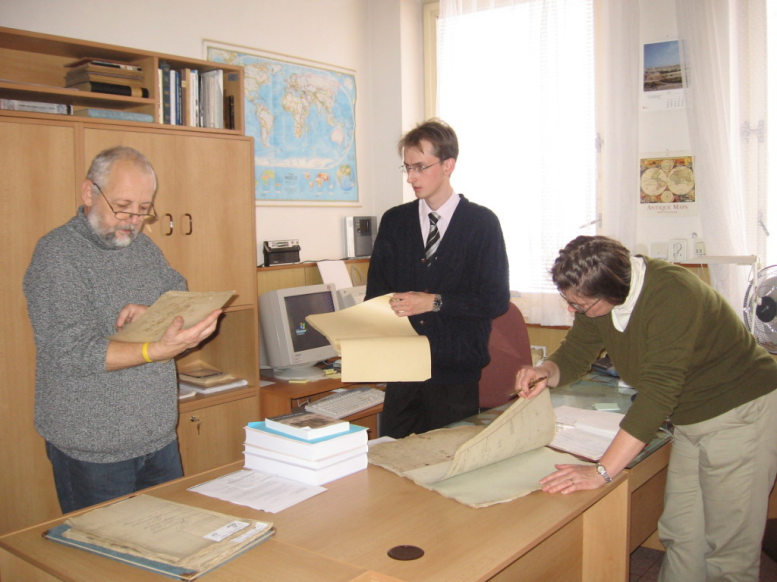 At work in the Pelhrimov Regional Archives